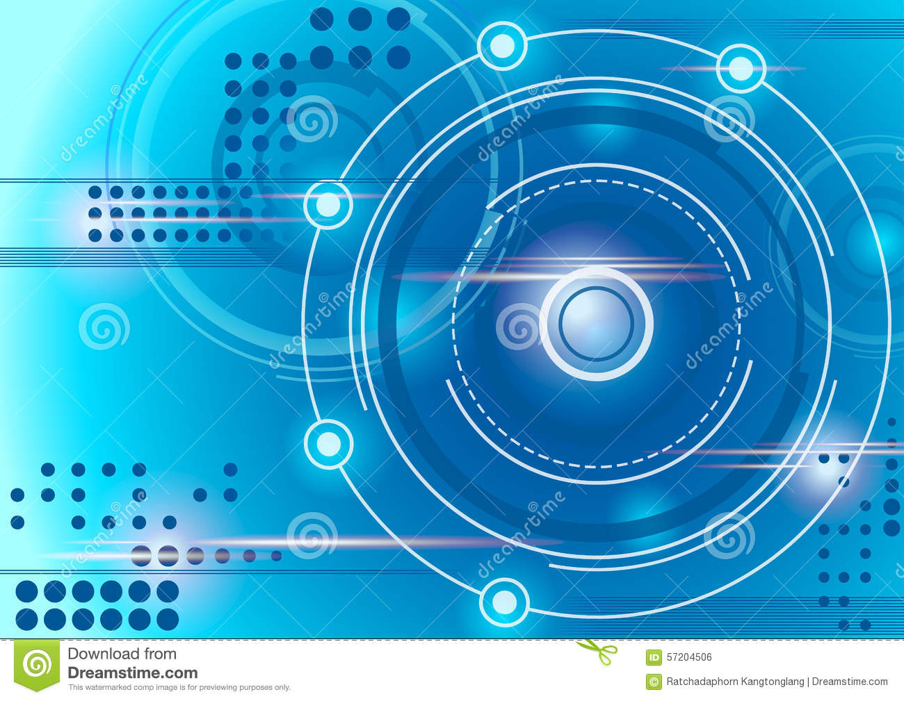 Blue Technology: Circle Abstract Blue Technology Background Stock Vector