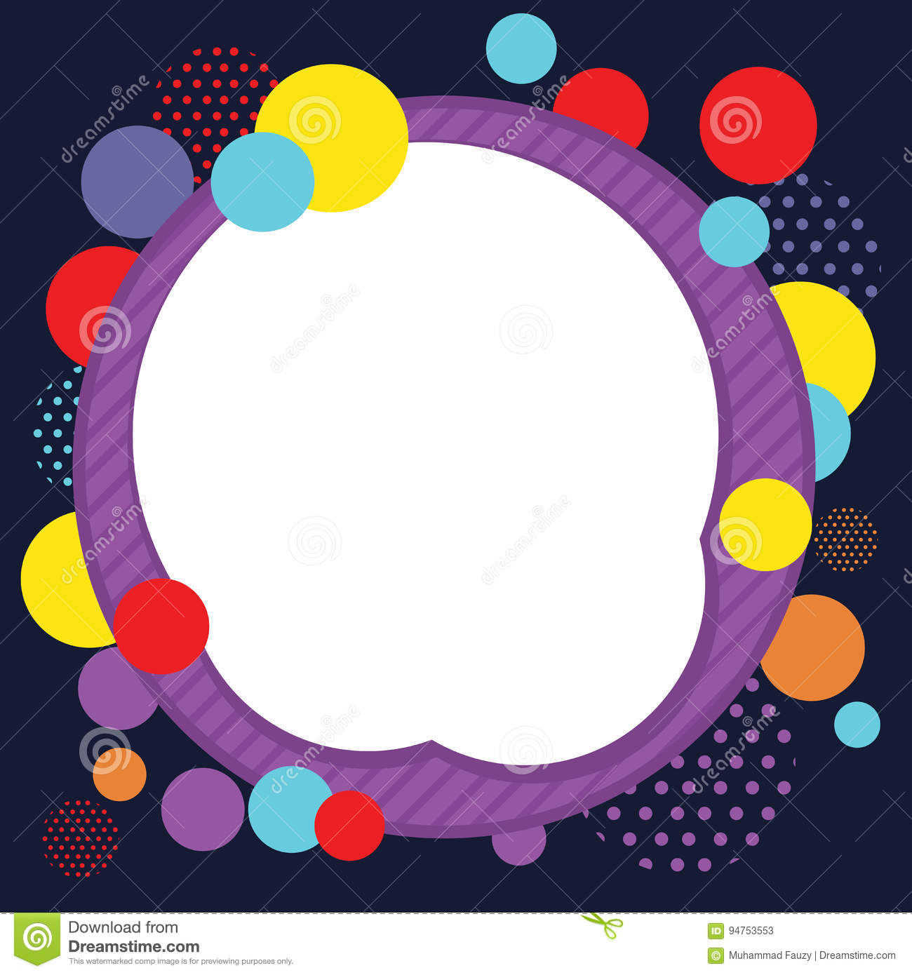 Circle Abstract Frame Background