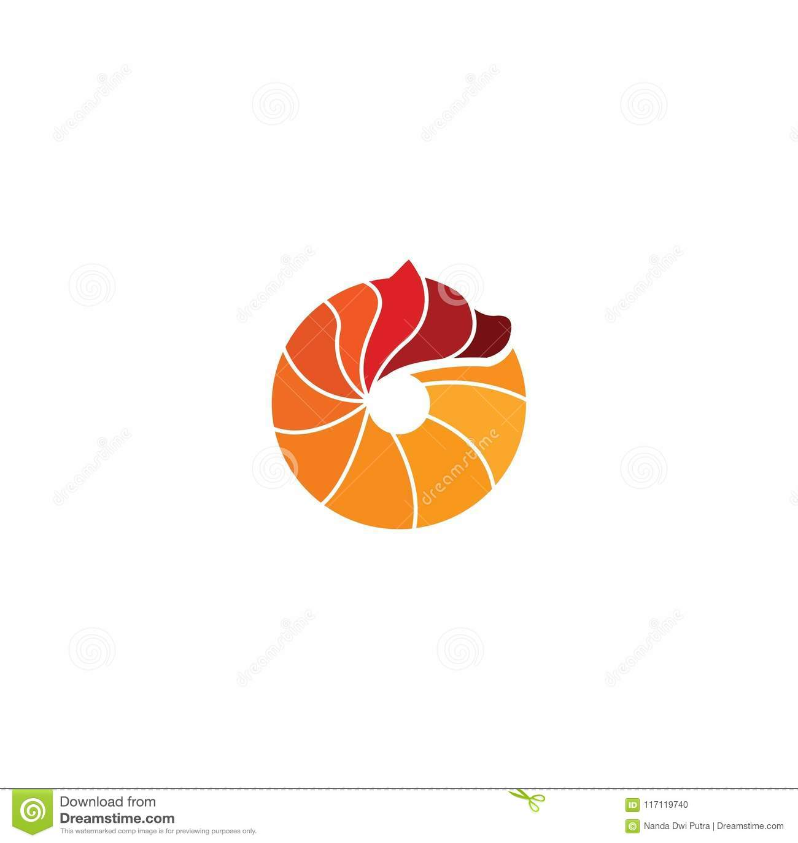 Circle bear logo design with simple concept