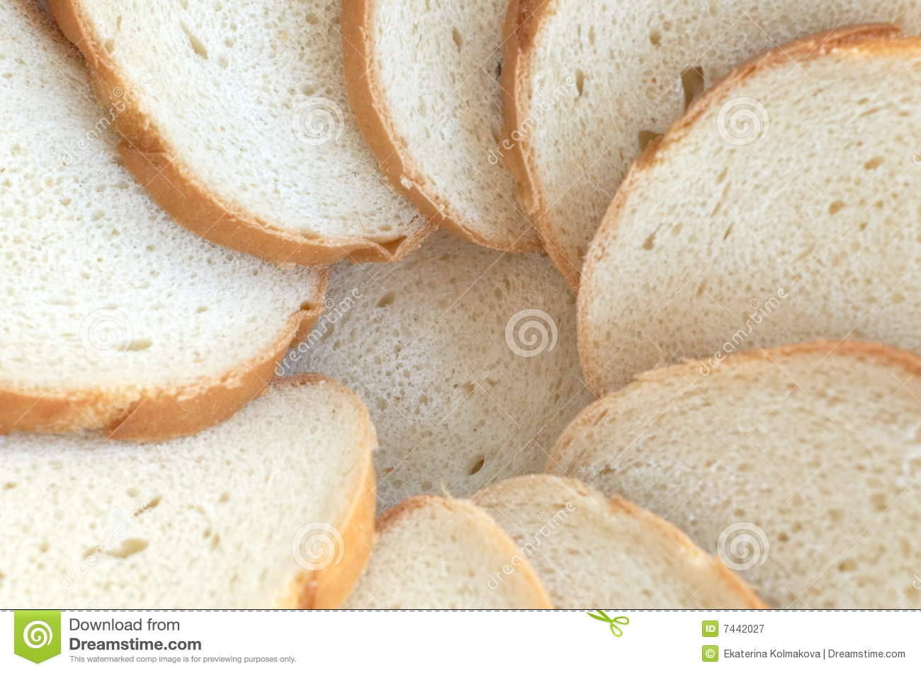 Homestyle Bakery Circle From Bread Slices Royalty Free Stock Photography