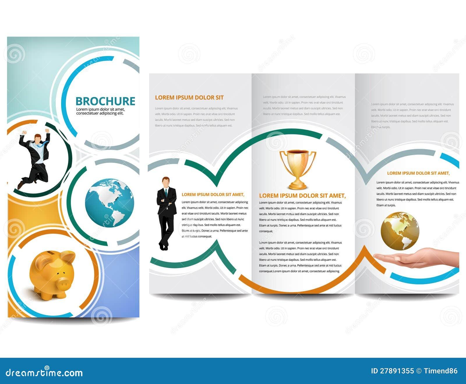 circle brochure template - circle brochure royalty free stock photo image 27891355