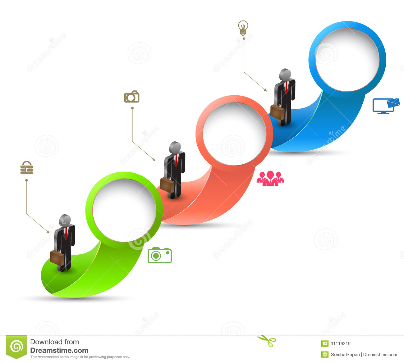 Circle With Business Man Royalty Free Stock Images - Image
