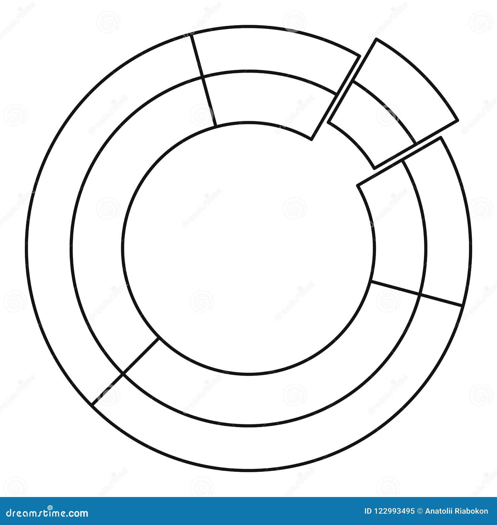circle chart icon thin line stock illustration illustration of Icons Database Diagram circle chart icon thin line