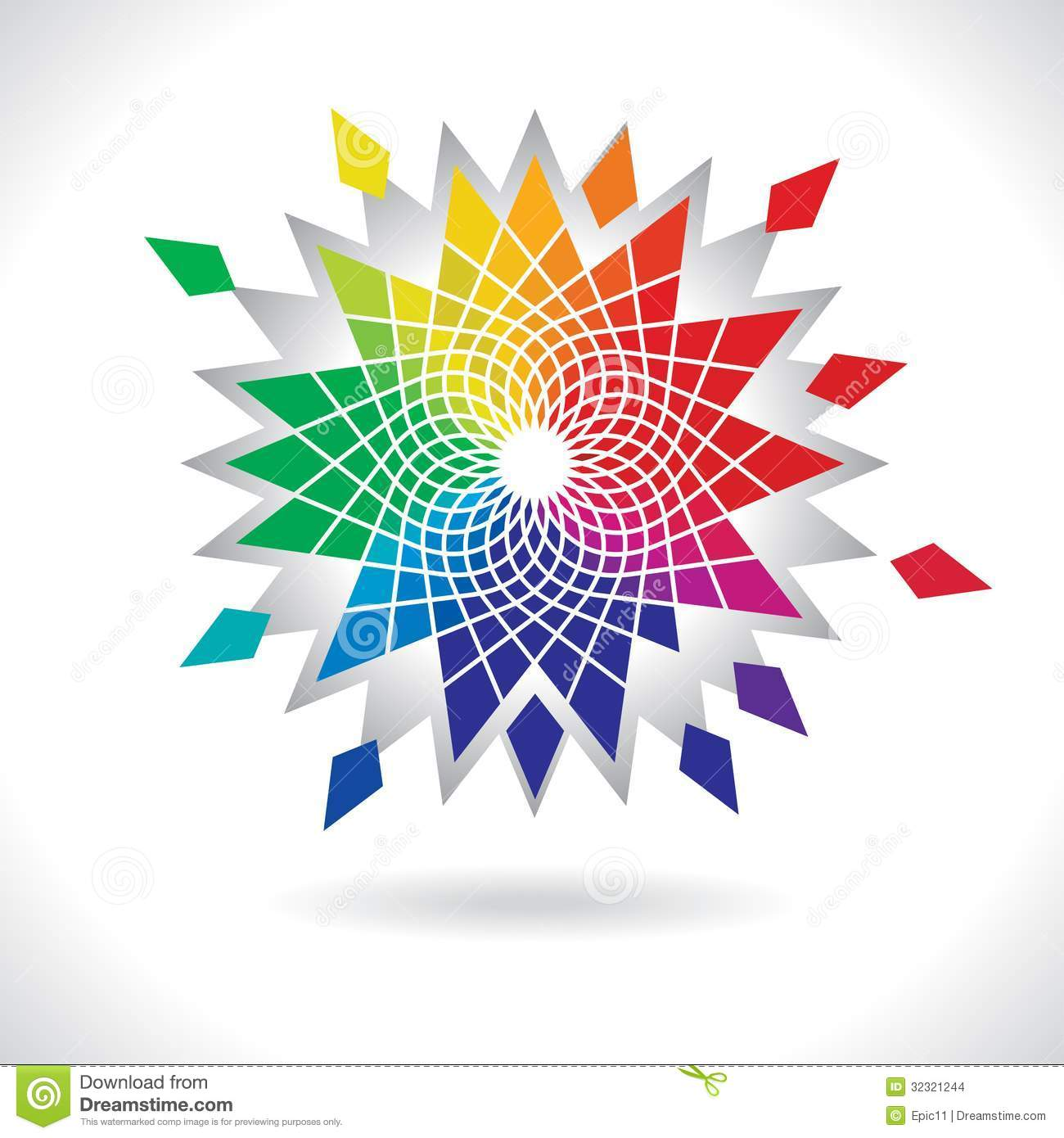 Abstract Flower Background With Decoration Elements For: Circle Colorful Elements Stock Vector. Illustration Of
