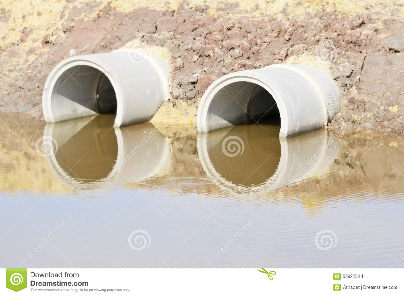 Circle concrete culvert stock photo  Image of strong - 58922544