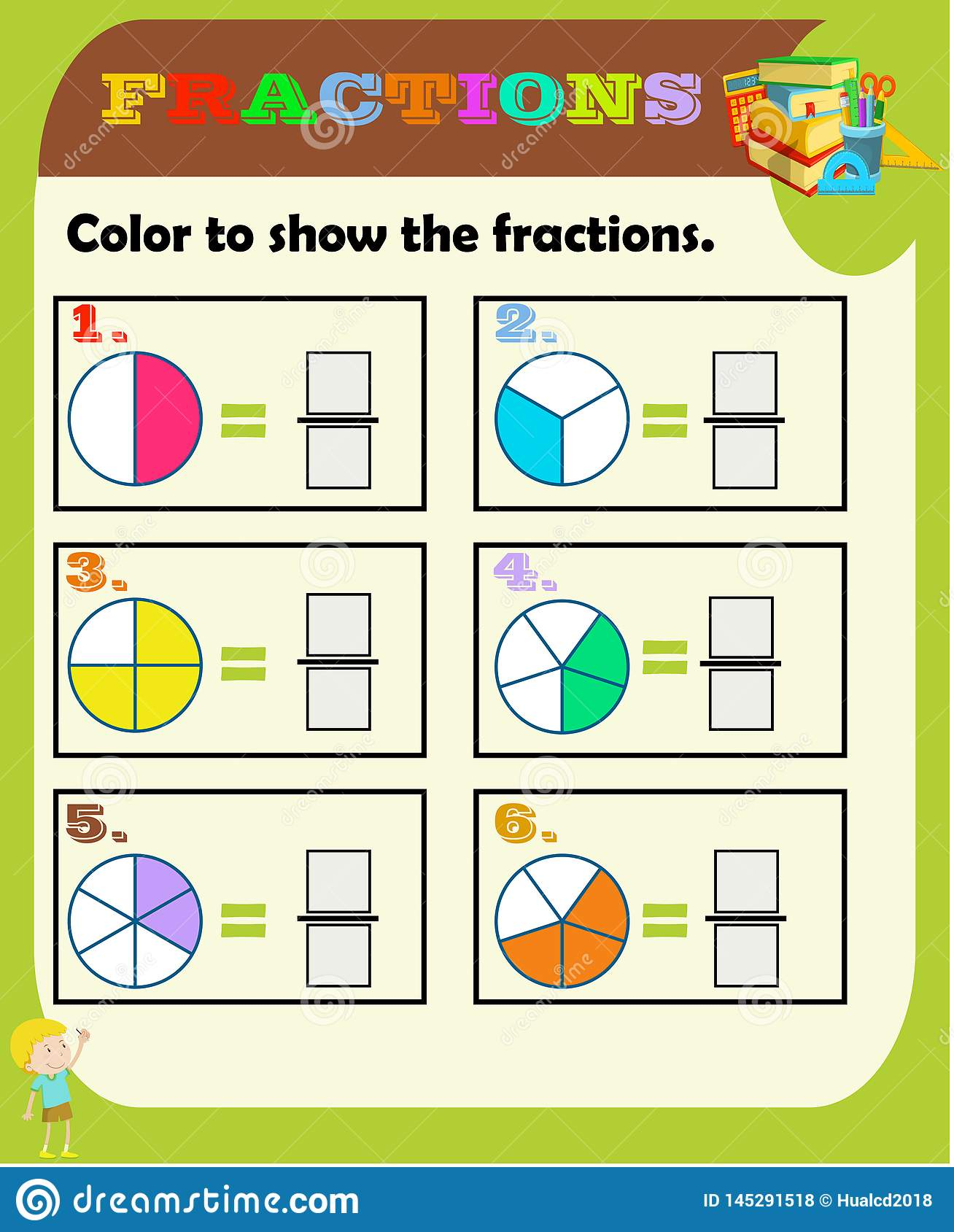 photograph relating to Printable Fraction Game named Circle The Suitable Portion, Arithmetic, Math Worksheet For