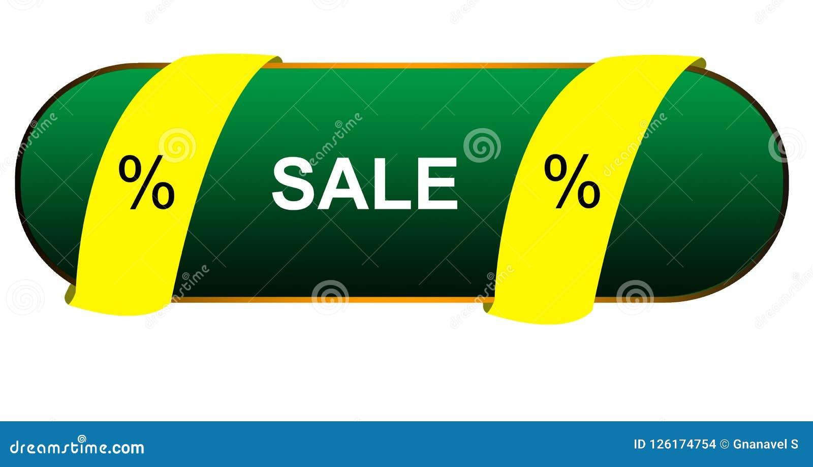 Circle Designing Element Color Sale With Percentage Symbol Web ...