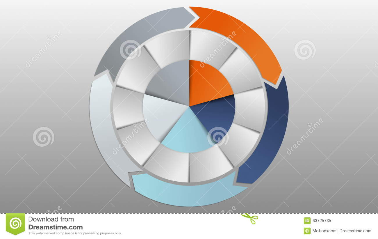Circle Diagram Five Result Category Chart For Presentation.version 2 ...