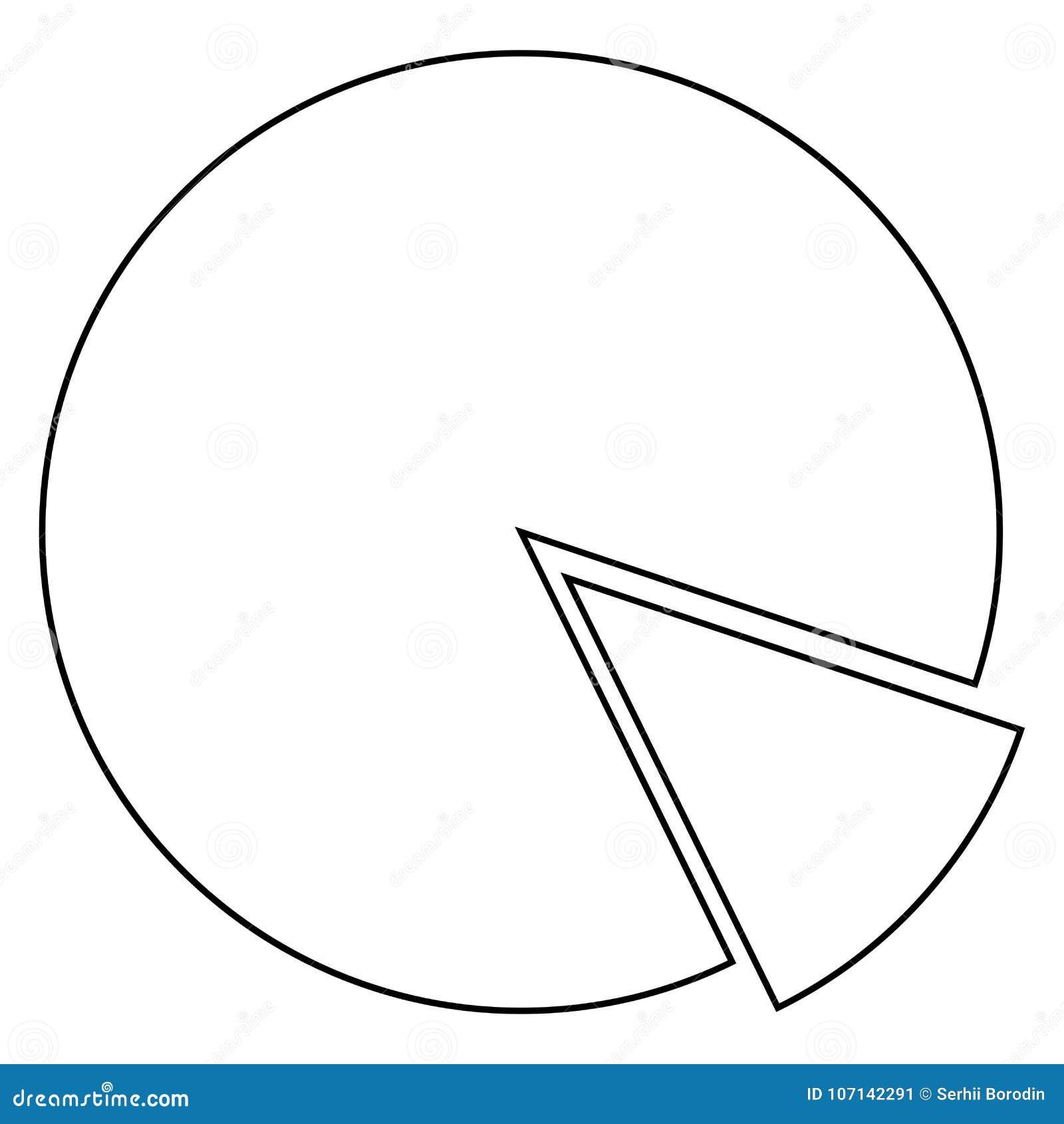 Circle diagram icon . Black color .