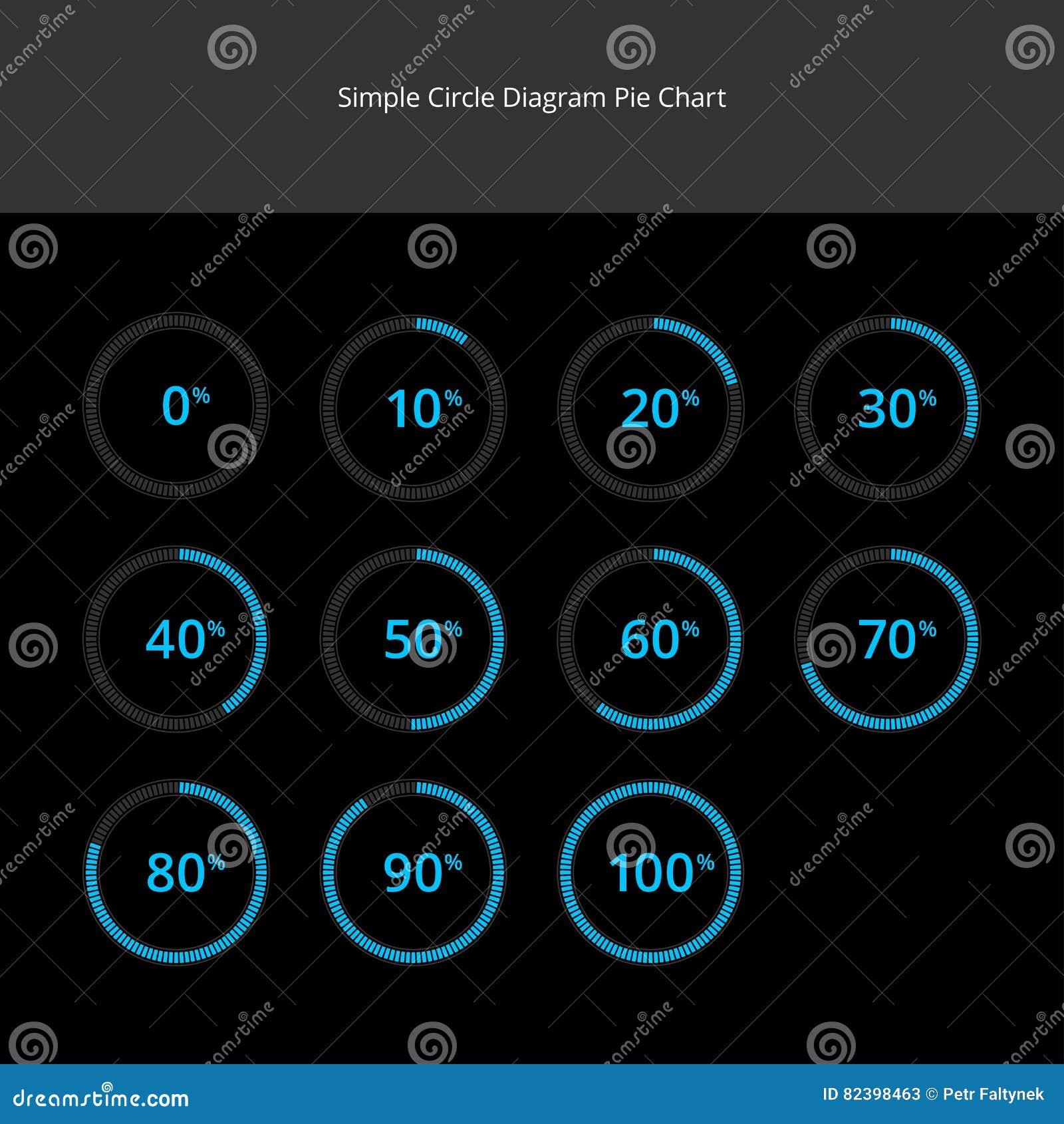 Circle Diagram Pie Charts Infographics - Light Blue