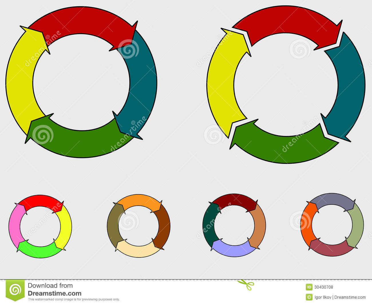 Quality management system plan do check act circle isolated on white