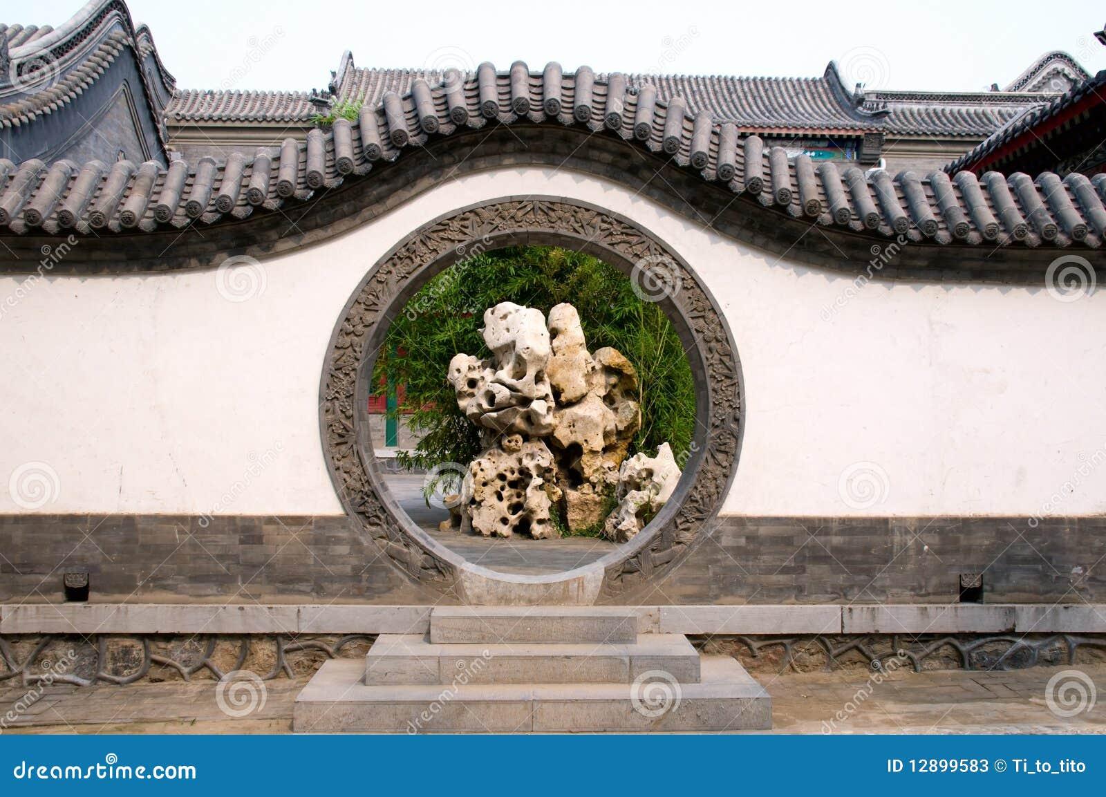 Circle Entrance Of Chinese Garden Stock Photos - Image ...