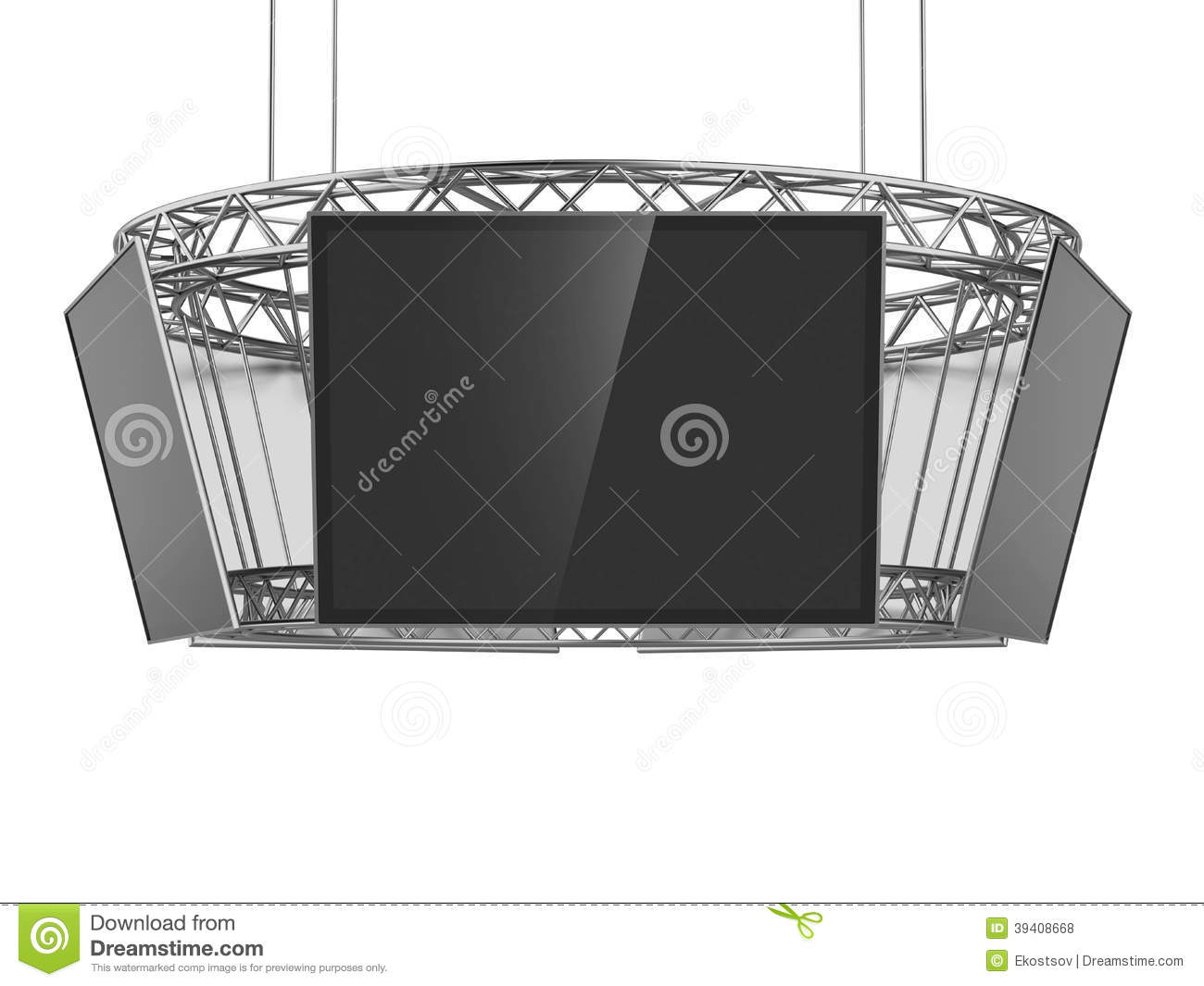 Exhibition Stand Circle : Circle exhibition stand with tv stock photo image