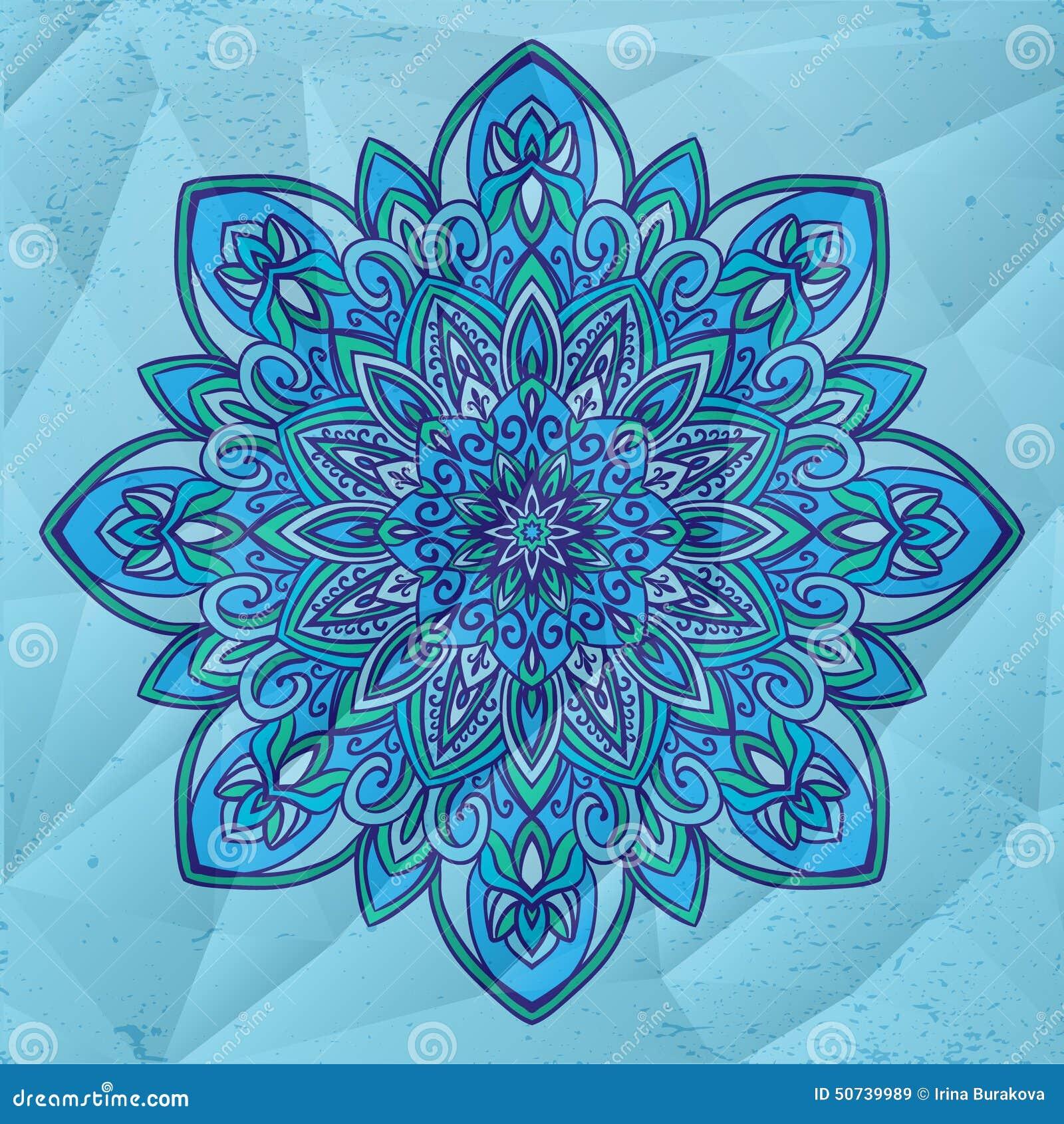 Circle Flower Mandala Stock Illustration Of Color