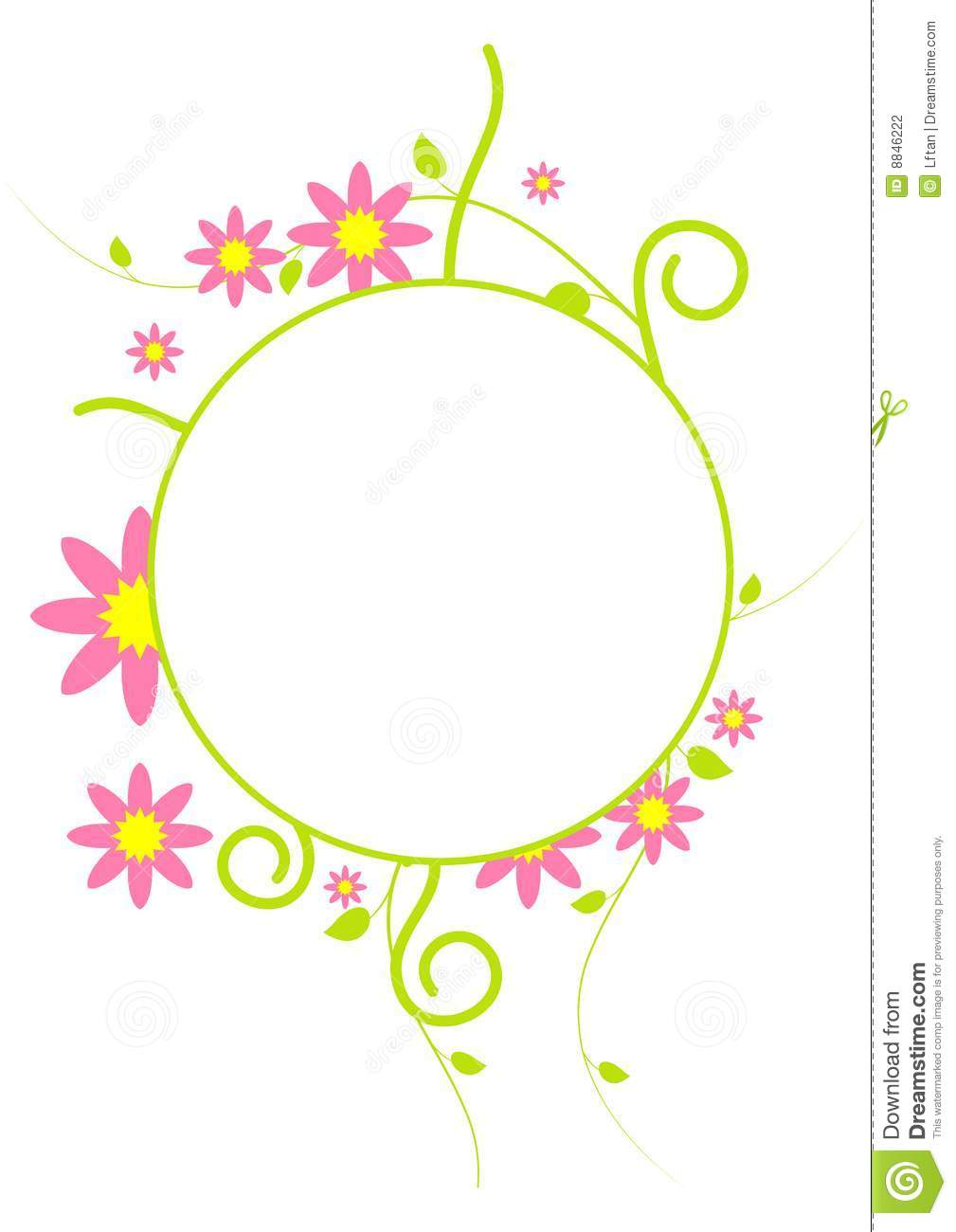 Gallery For > Flower Circle Border