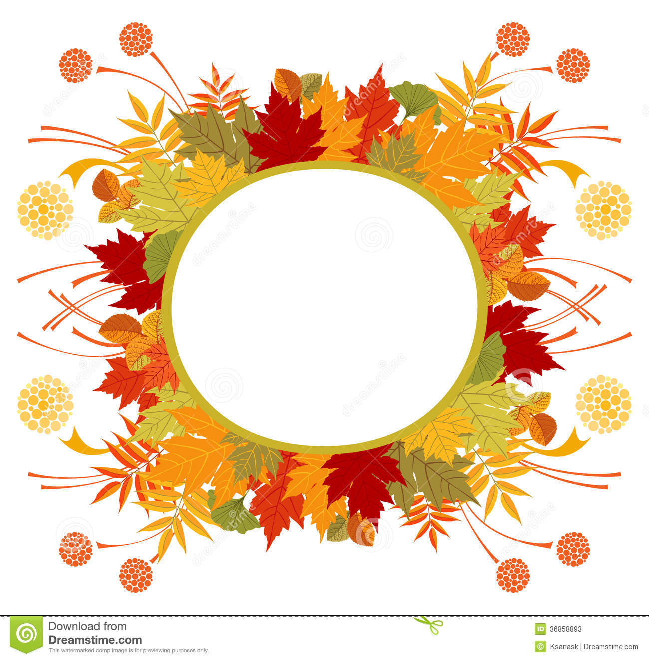 circle frame with autumn leaves stock photos image 36858893 Halloween Christian Pumpkin Clip Art Christian Pumpkin Carving Clip Art