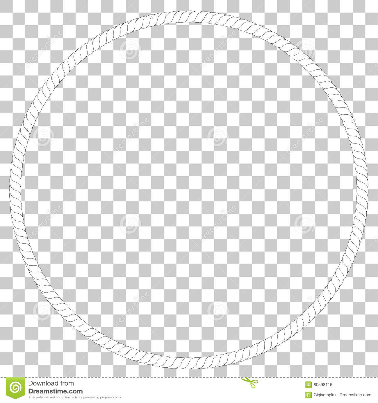 Circle Frame From Rope, At Transparent Effect Background Stock ...