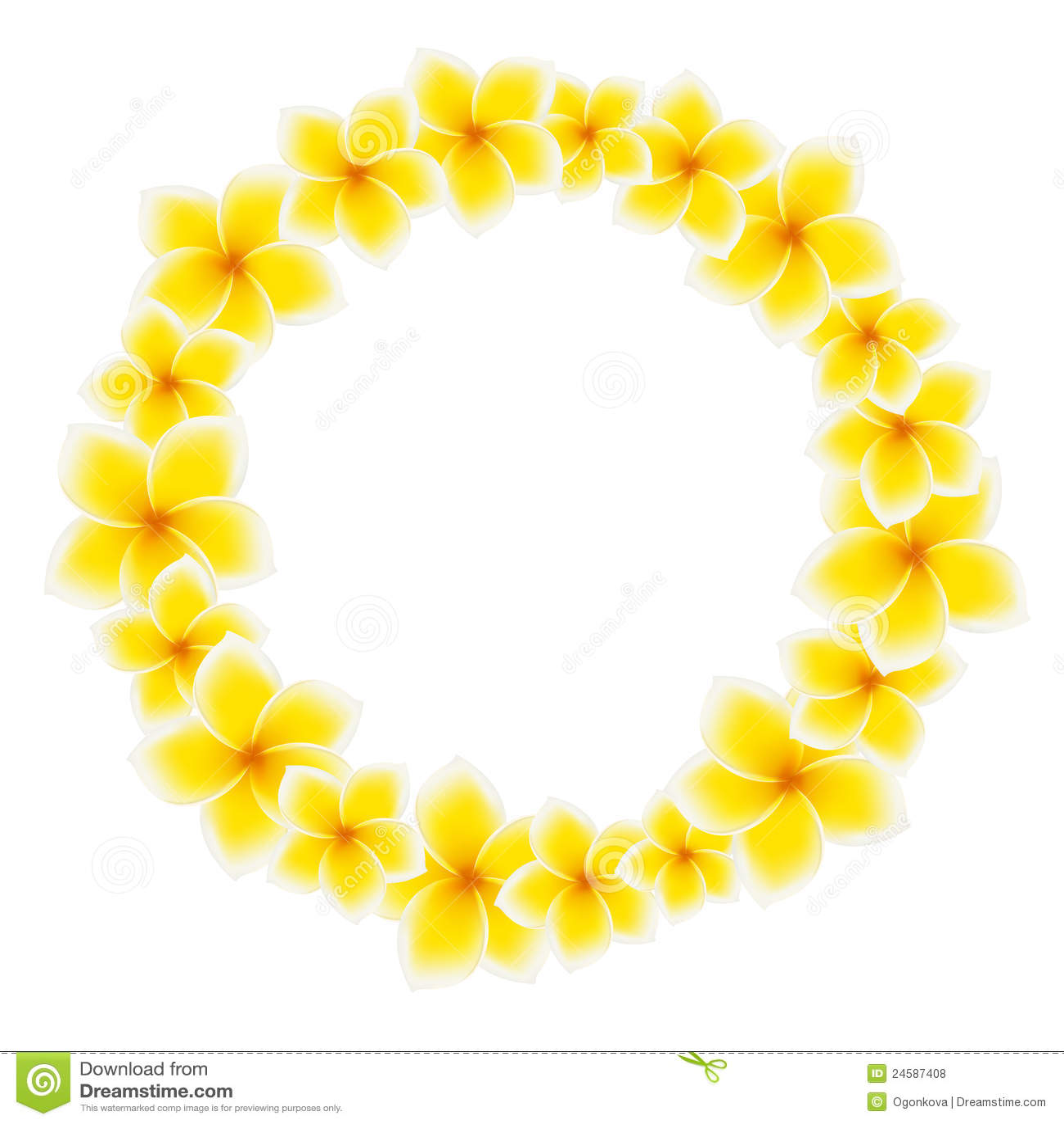 Circle Of Frangipani Flowers Royalty Free Stock Photos