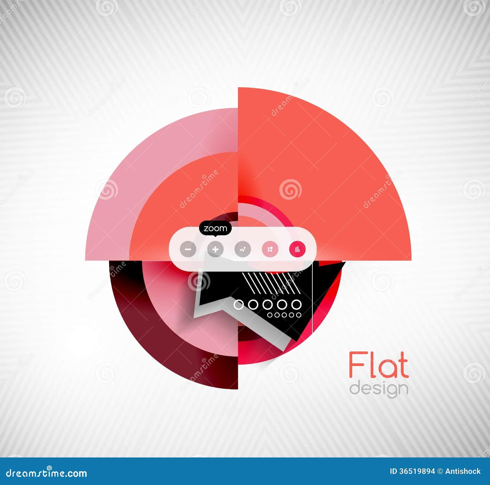 Circle geometric shapes flat interface design