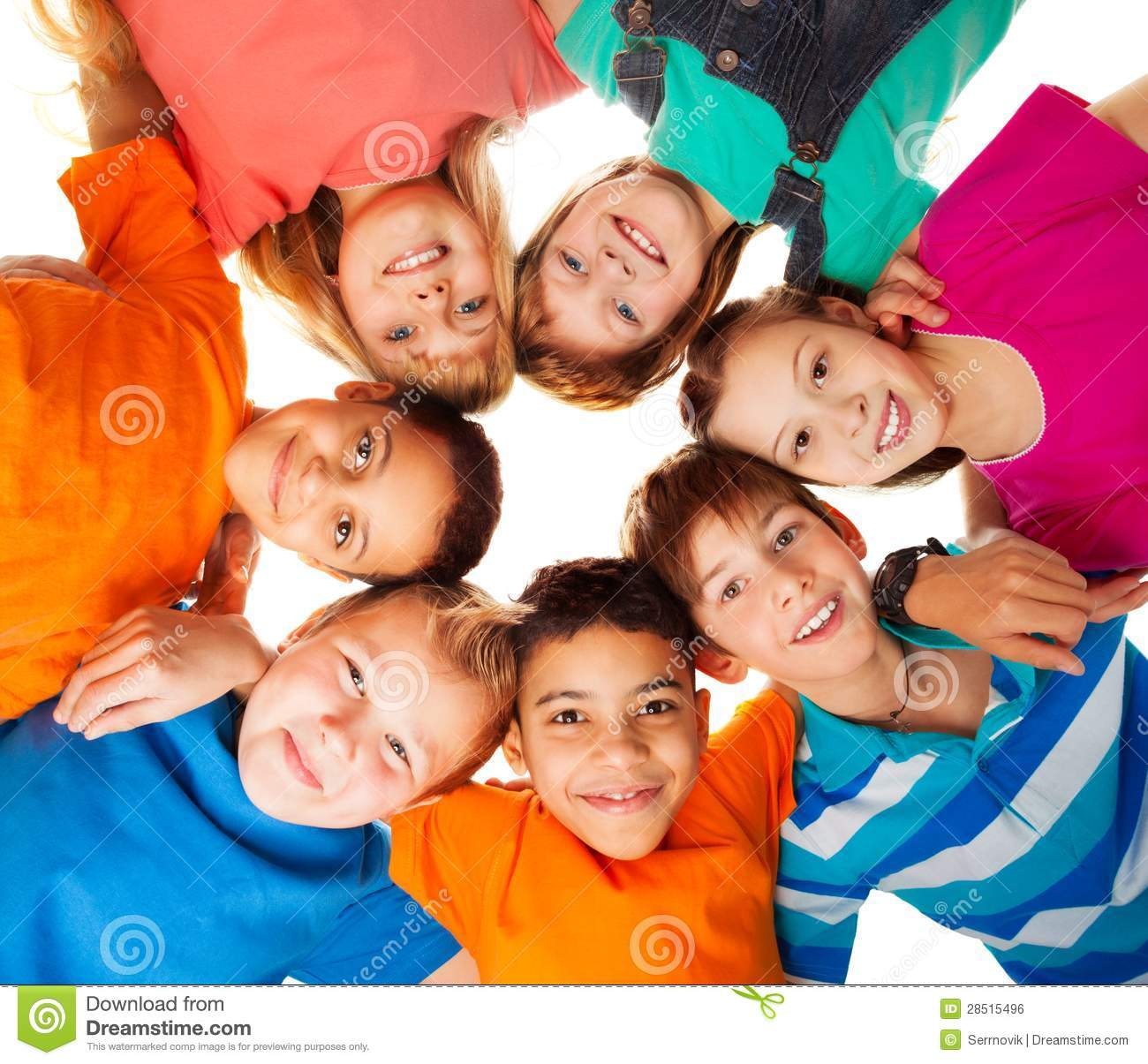 Circle Of Happy Kids Together Smiling Royalty Free Stock Image ...