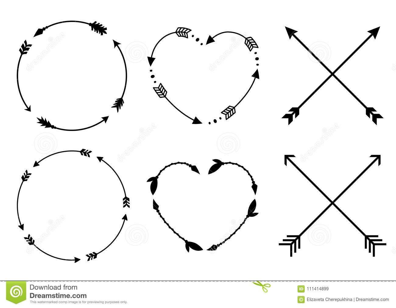 heart diagram labeled with arrows