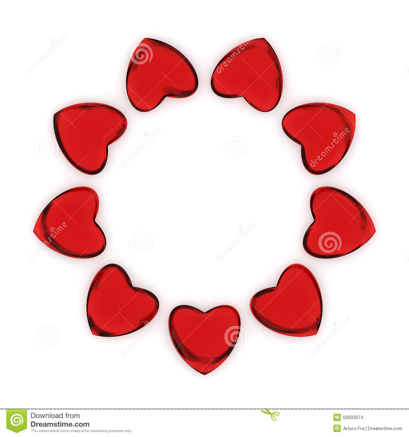 Circle Of Hearts Stock Illustration Image 50003074