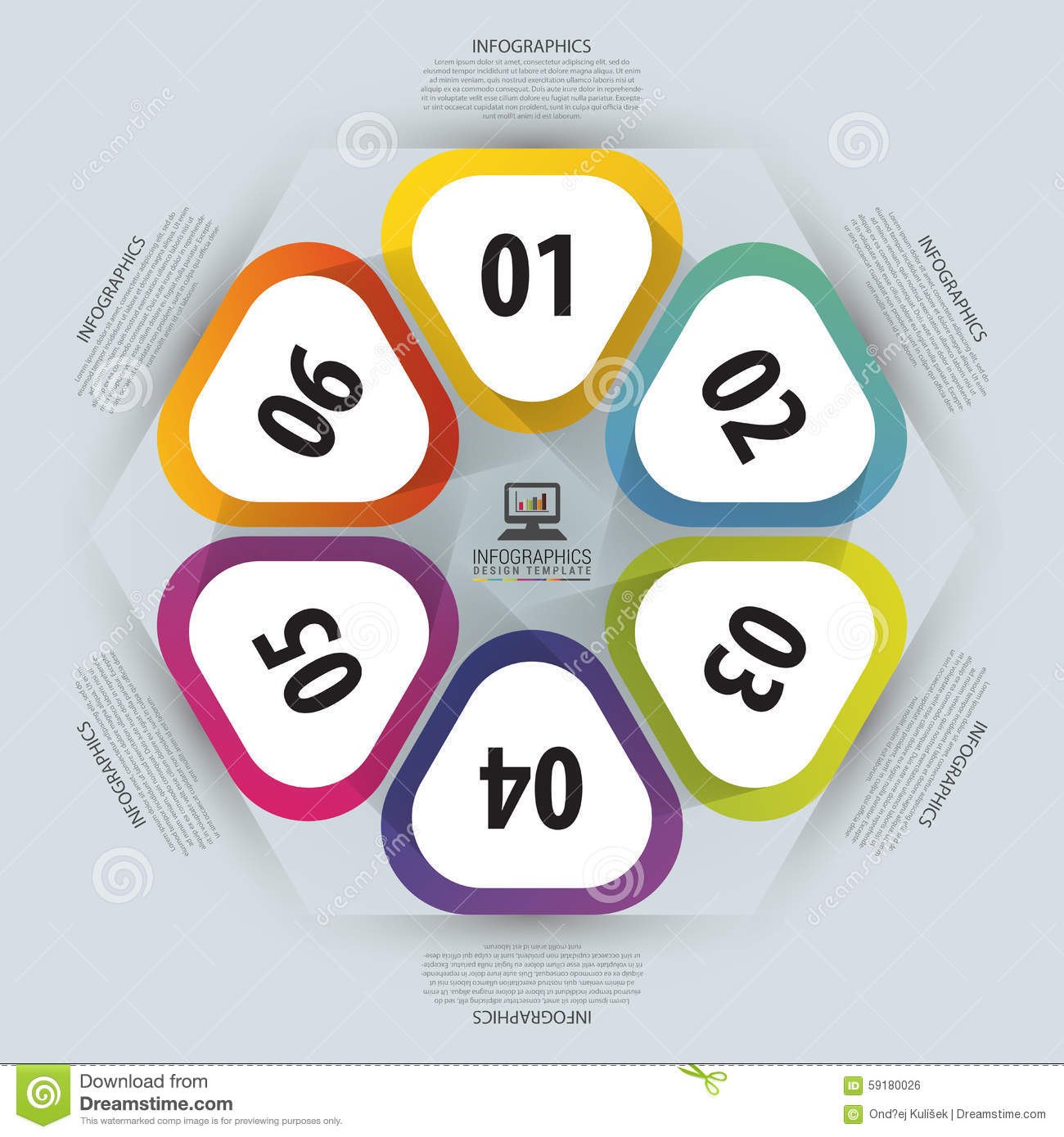 hexagon infographic. Template for cycle diagram, graph, presentation ...