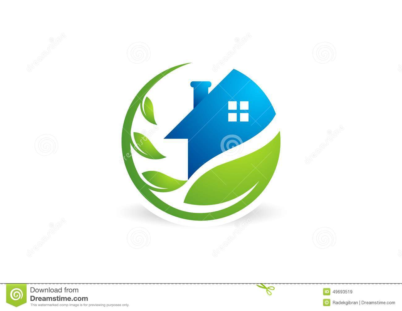 home, house, real estate, logo, circle building, architecture, home plant nature symbol icon design vector