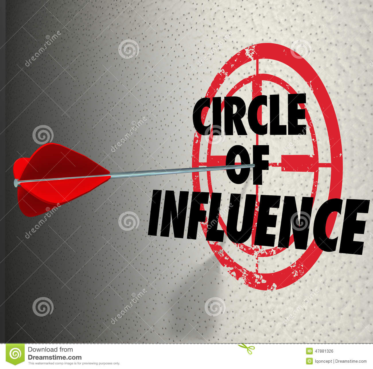 Circle Of Influence Target Words Spreading Message Contacts Frie ...