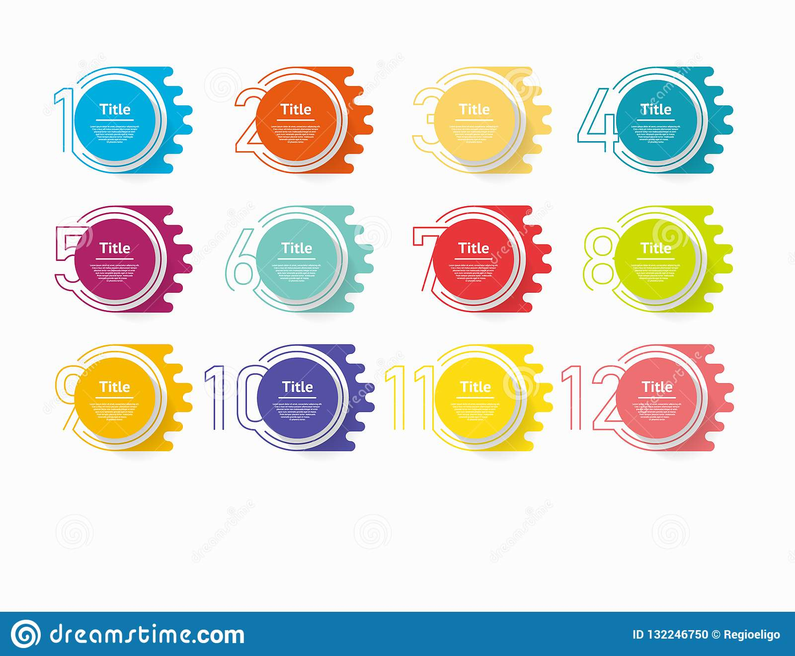 Circle infographic number options. Design vector template can be used for workflow layout, diagram, presentation, web design. Busi
