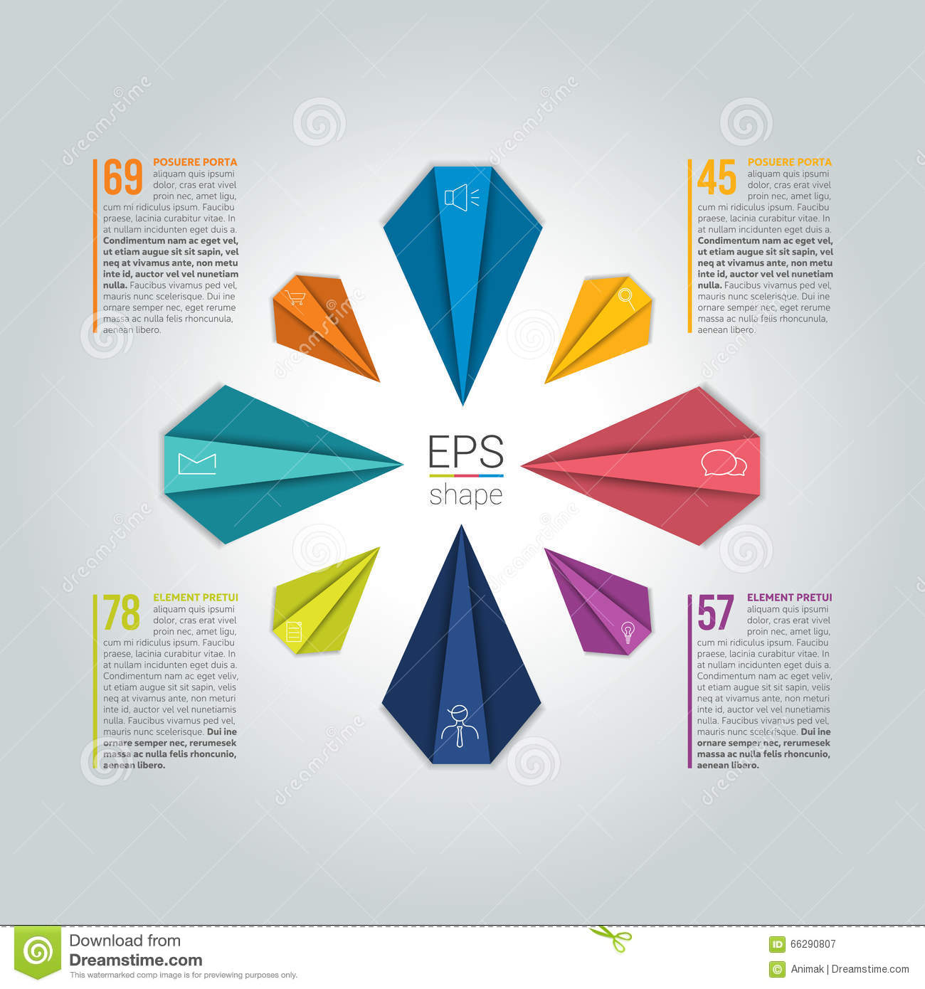Circle Infographic 8 Steps Round Flow Chart Diagram Graph Chart