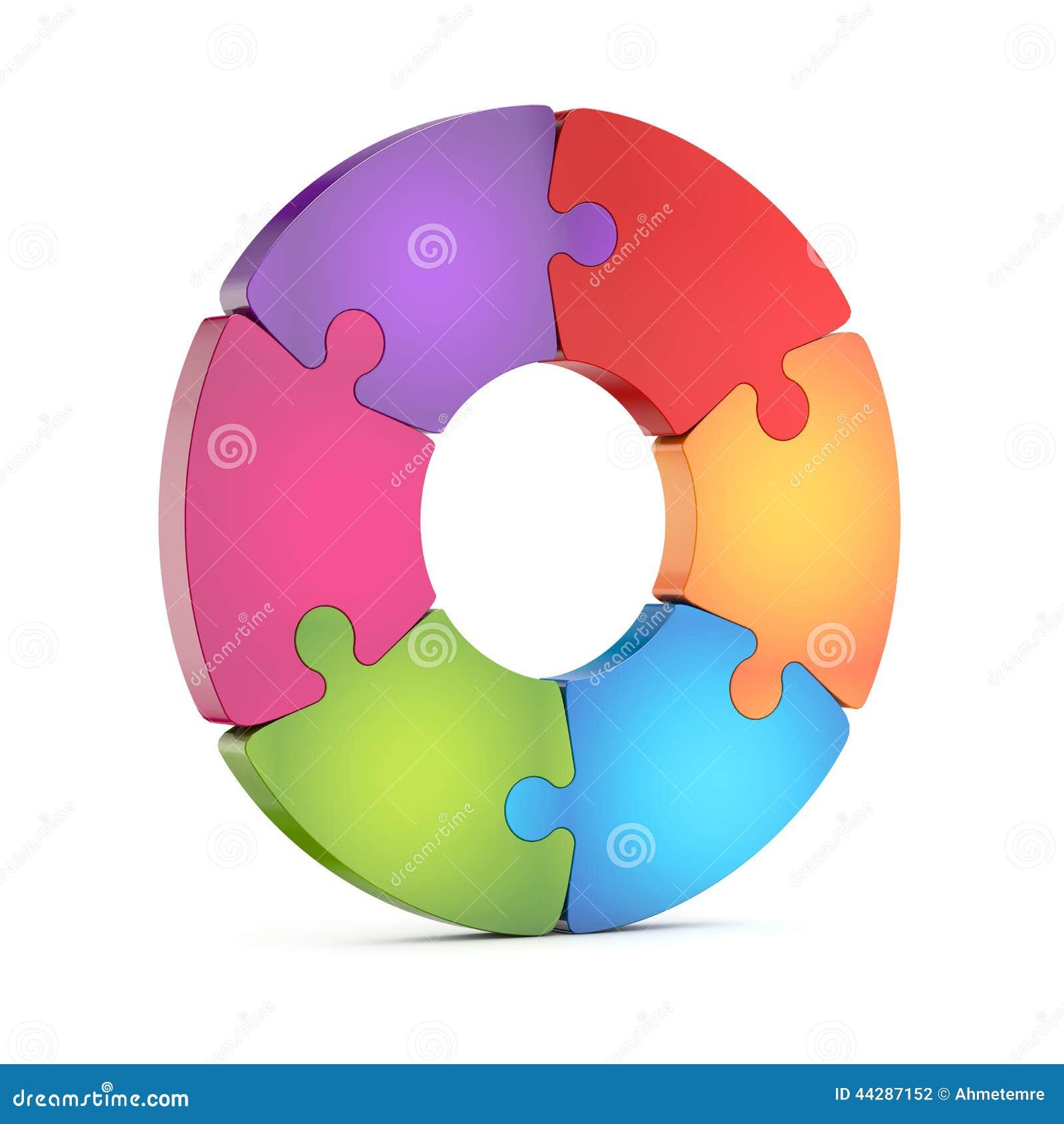 circle jigsaw puzzle wheel stock illustration image