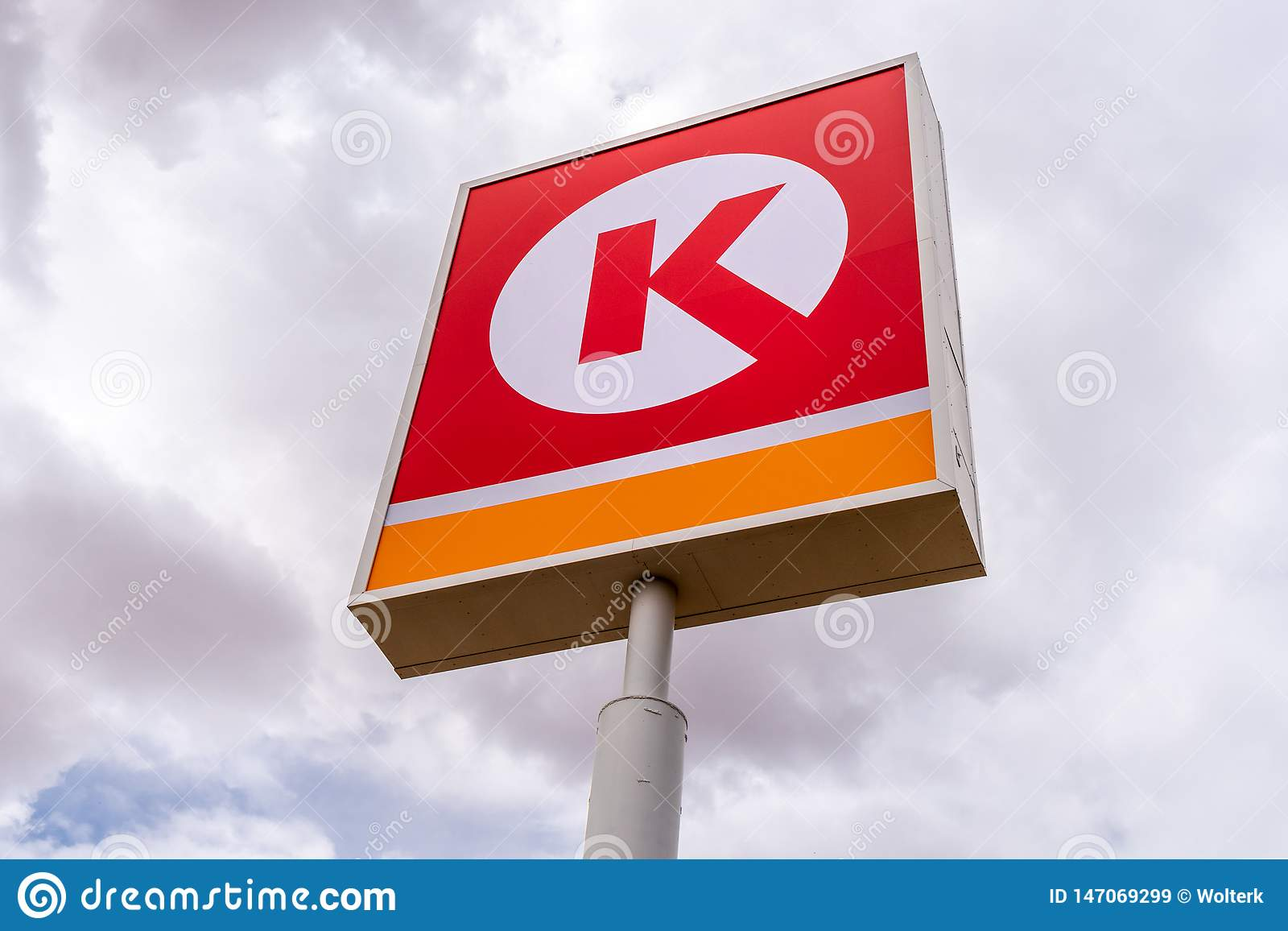 Circle K Retail Gas Station Exterior Sign Editorial Stock Image Image Of Filling Station 147069299