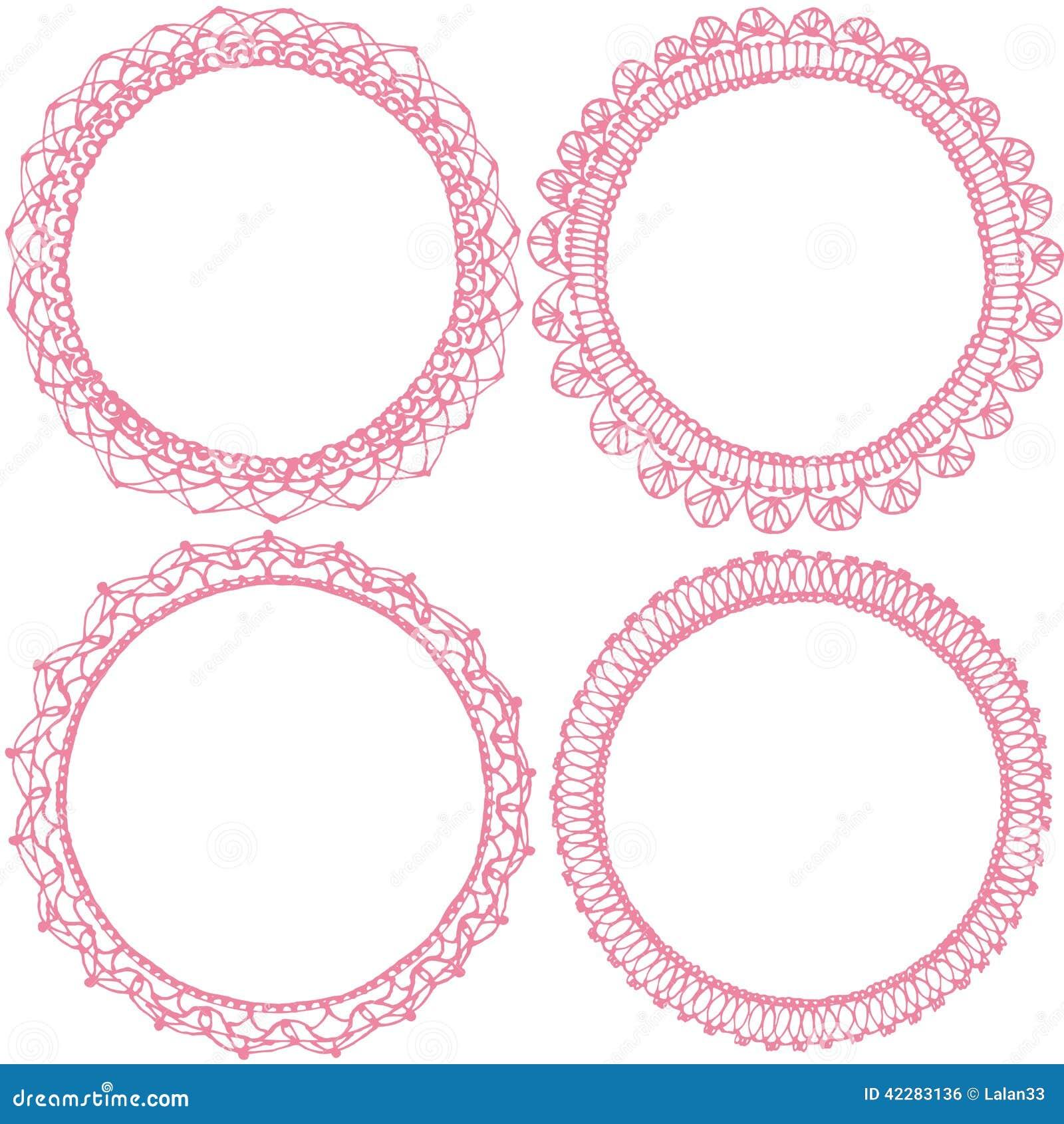 circle lace frames royalty free stock image