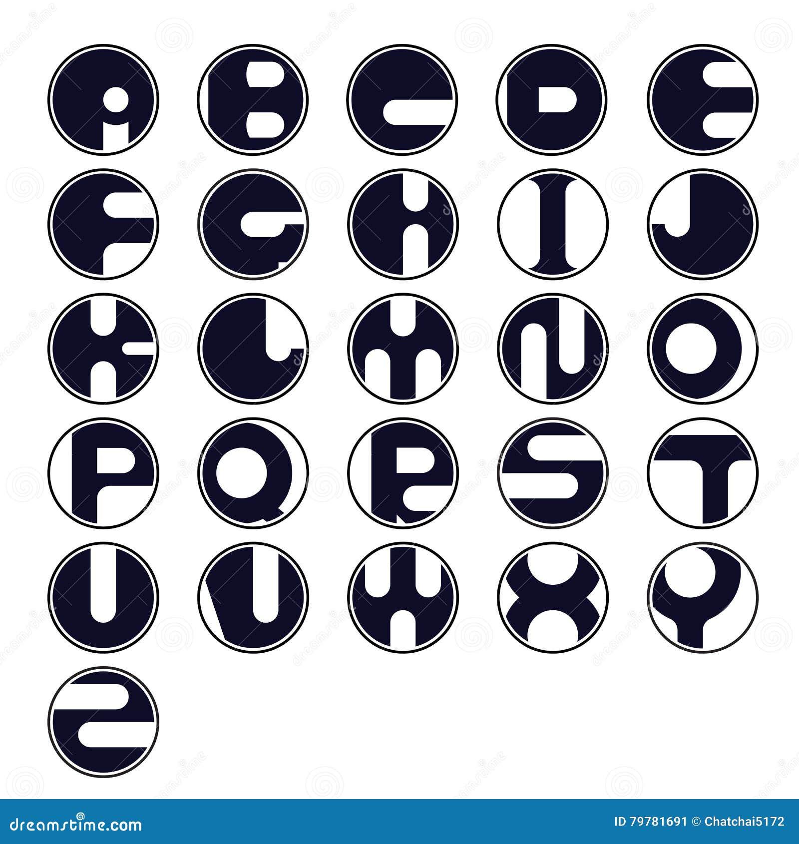 circle letter icon abstract logo design vector template
