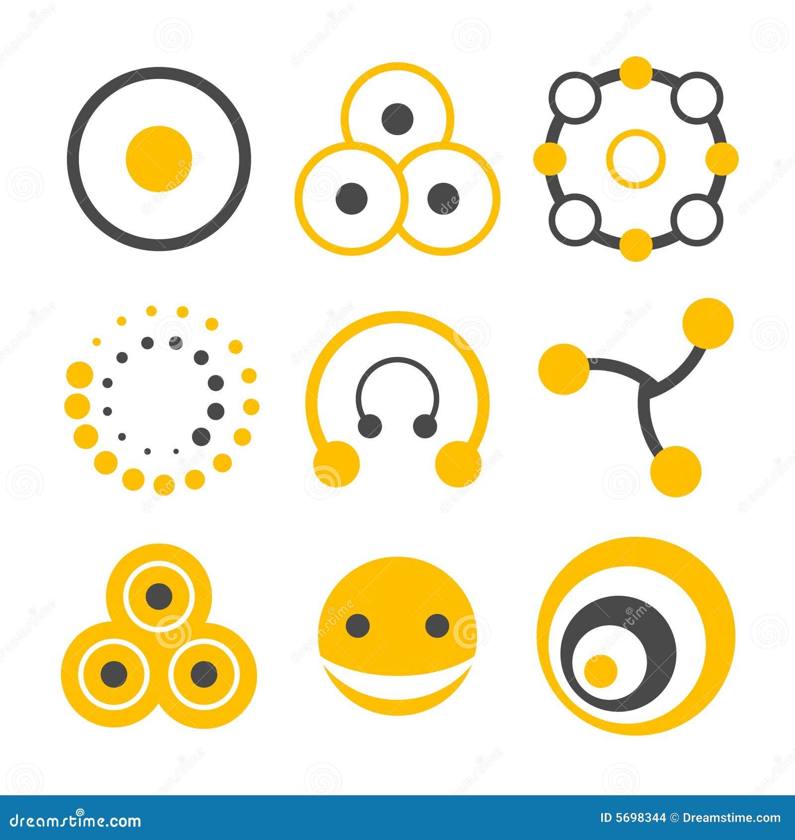 Circle logo elements