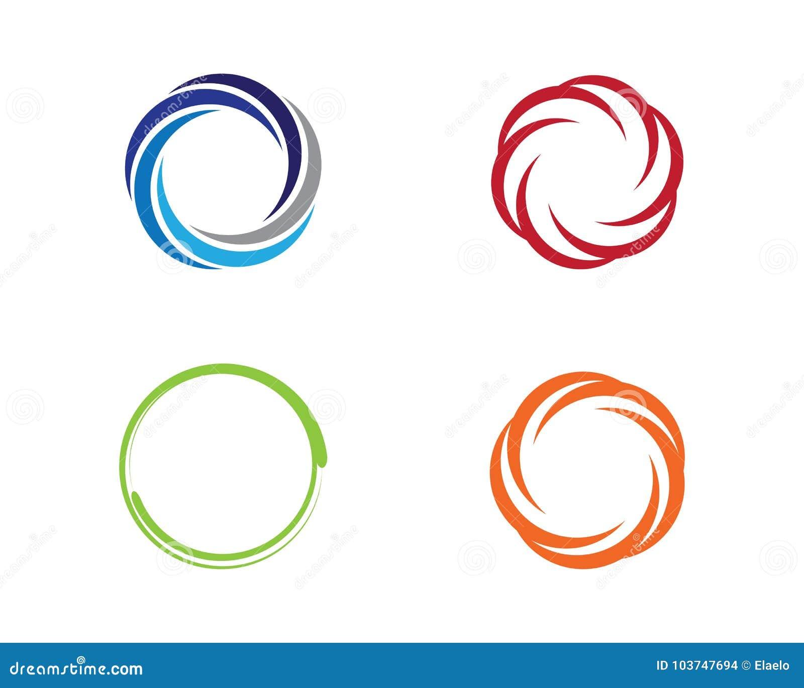 circle logo template stock vector illustration of flourish 103747694