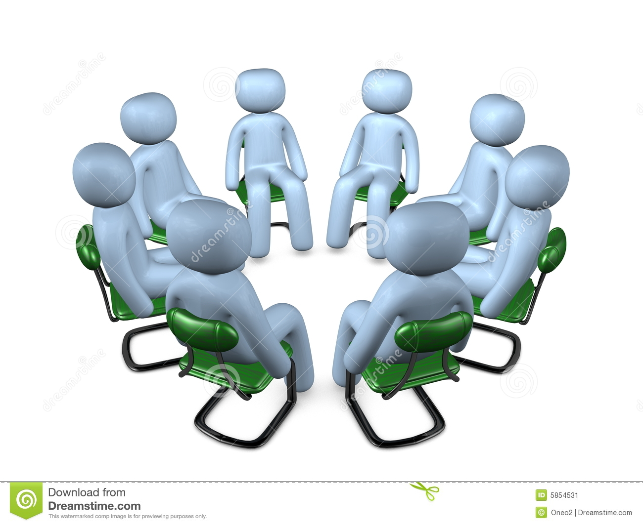 Circle Meeting Stock Image Image 5854531