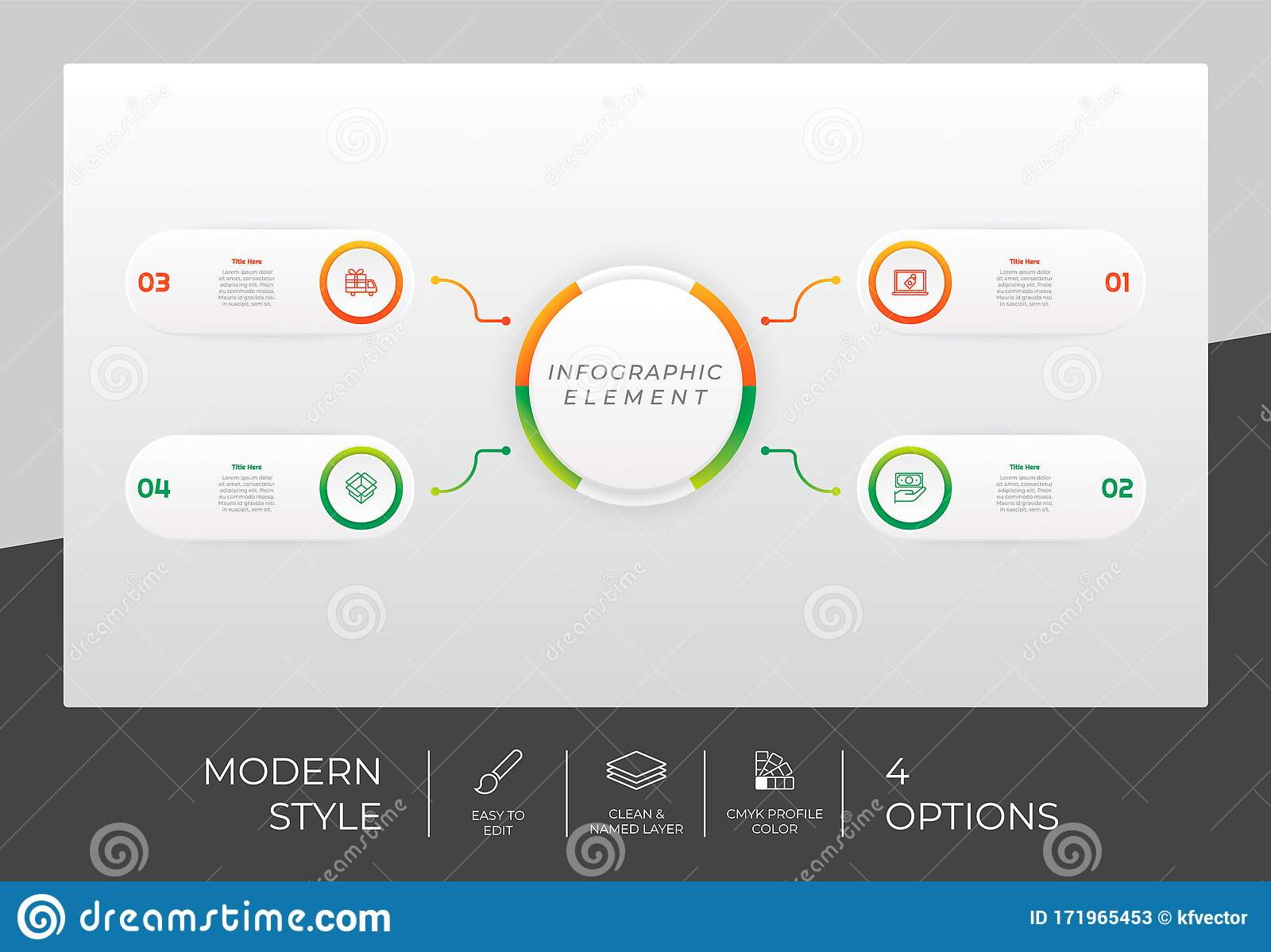 Circle Option Infographic Vector Design With 4 Options Colorful Style For Presentation Purpose Modern Option Infographic Can Be Stock Vector Illustration Of Circle Connection 171965453