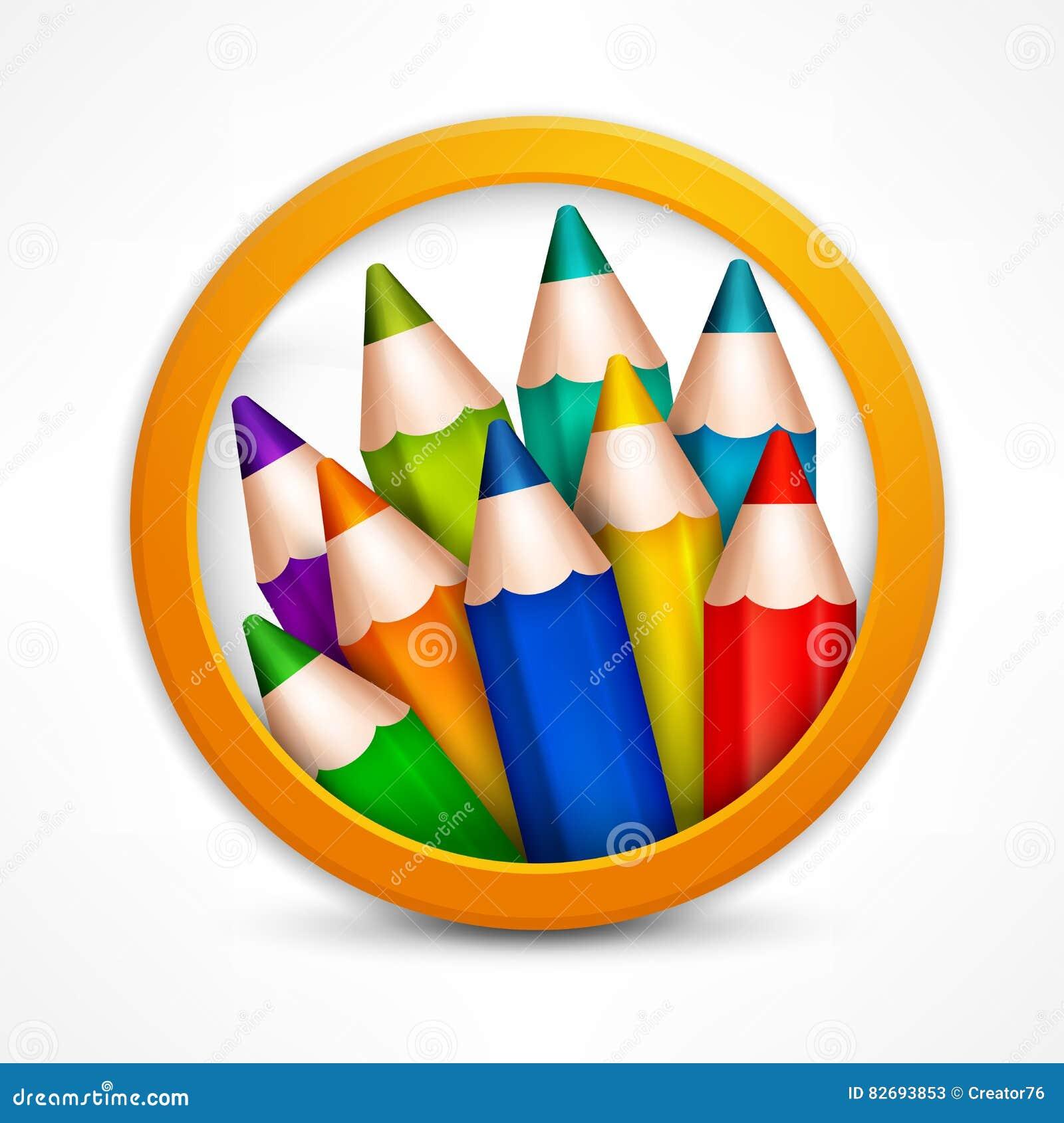 Circle pencil logo