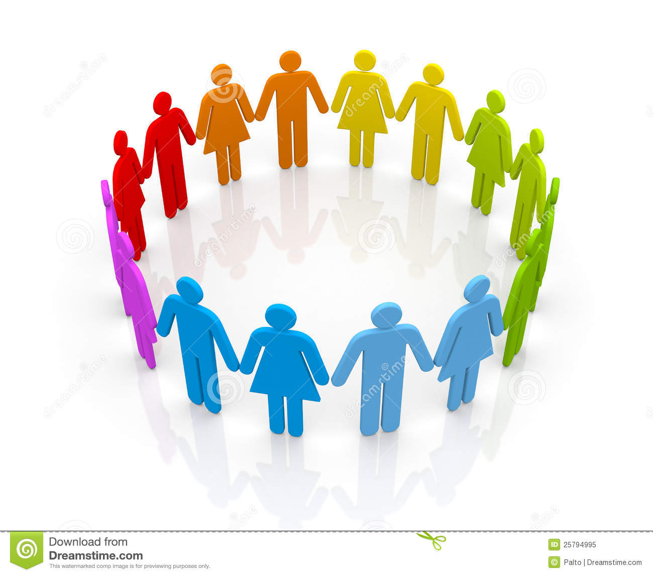 Circle Of People Royalty Free Stock Photo - Image: 25794995
