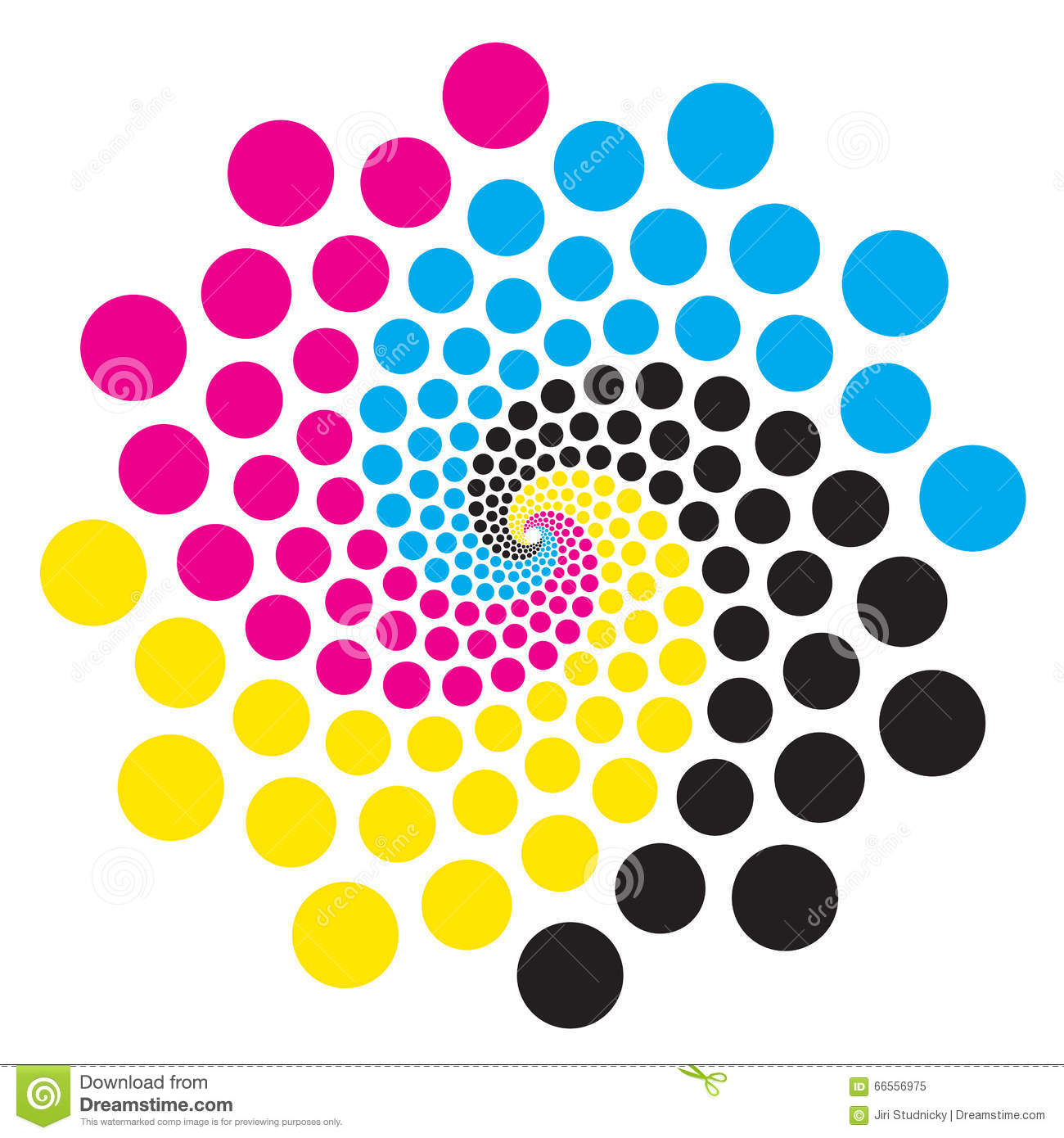 Circle With Print Colors Stock Vector