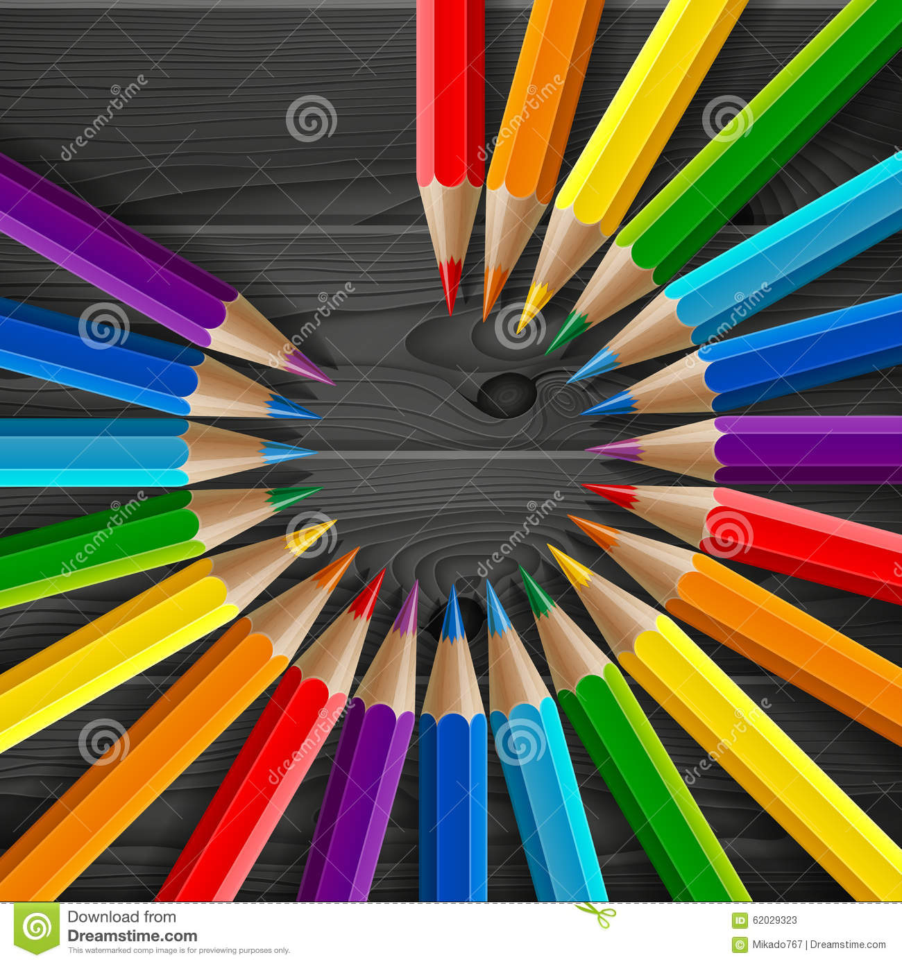 how to draw a realistic rainbow pencil