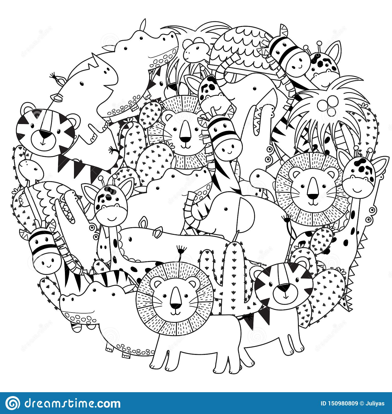 Zoo Animals Black White Stock Illustrations 11 133 Zoo Animals Black White Stock Illustrations Vectors Clipart Dreamstime