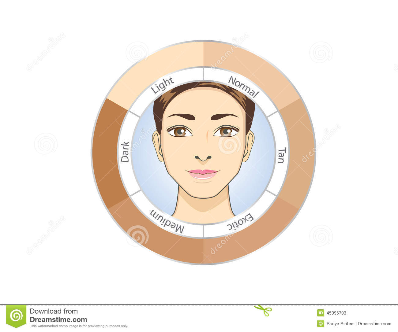 Skin color index stock vector illustration of girl color 78218860 circle skin color chart stock photos nvjuhfo Choice Image