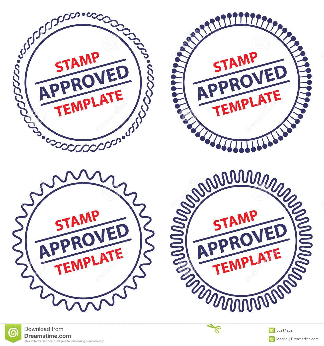 circle stamp template stock vector image of agreement 56214239. Black Bedroom Furniture Sets. Home Design Ideas