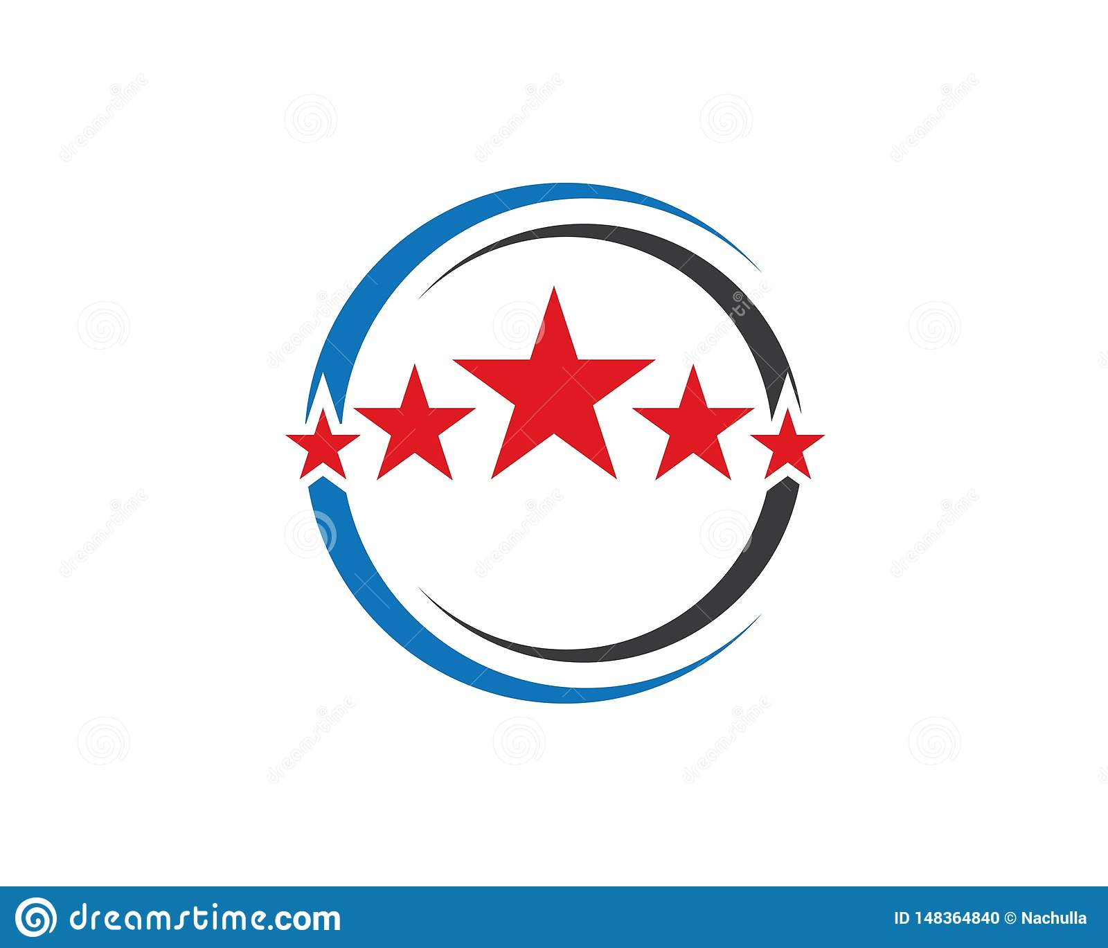 circle and Star icon Template vector