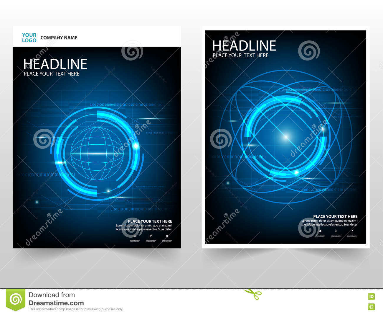 download circle technology abstract business brochure leaflet flyer annual report template design book cover layout