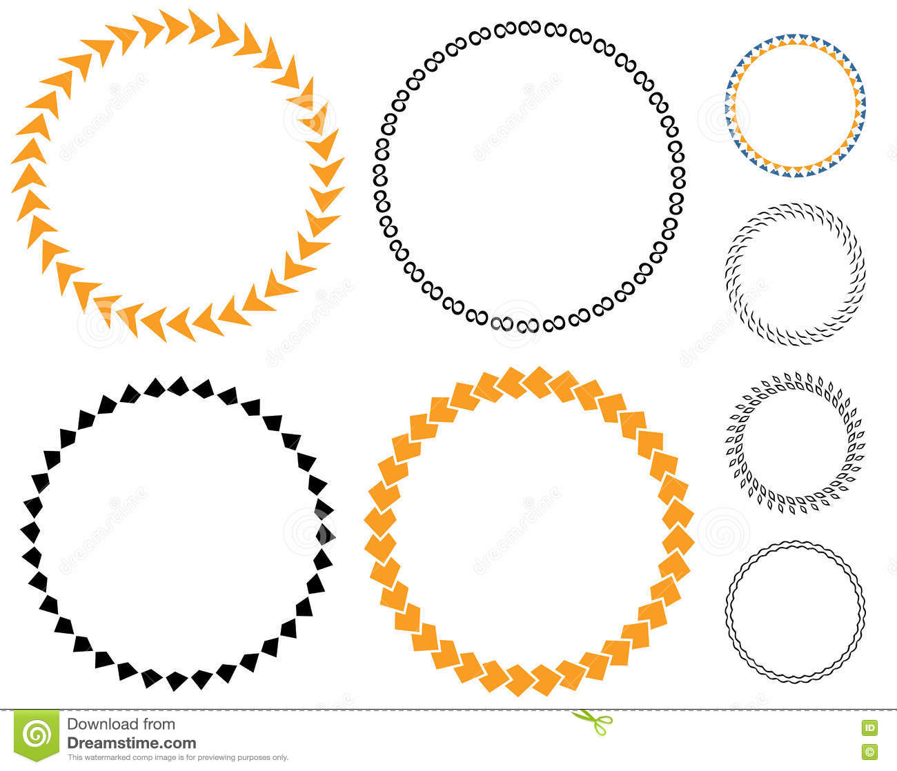 Circle Template Sticker Stock Vector Illustration Of Badge - Sticker layout template