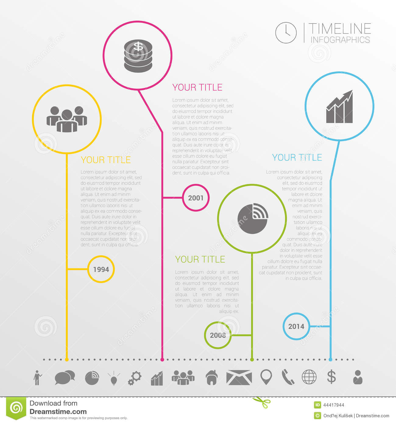 Simple Timeline Infographics Design Stock Vector - Image: 41835986